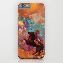 "Odilon Redon ""Muse on Pegasus"" iPhone Case"