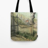 italian Tote Bags featuring Italian Garden by Emily Dwan
