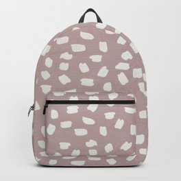 Simply Ink Splotch Lunar Gray on Clay Pink Backpack