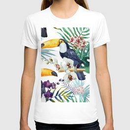 Tropical Bird Pattern 04 T-shirt