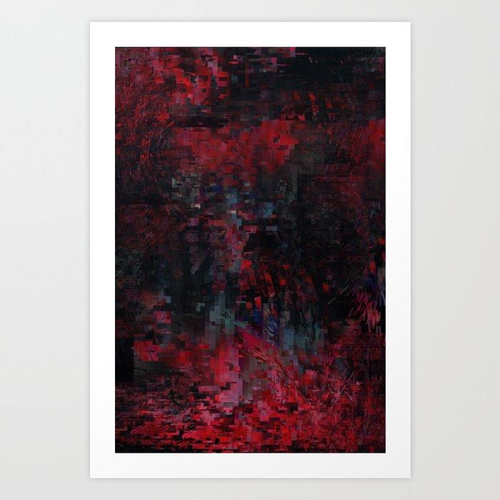 Blackredblue Art Print