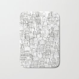Russian cathedral church line drawing Bath Mat