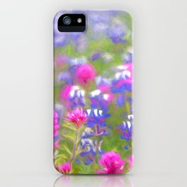 California Wildflowers natural pattern iPhone Case