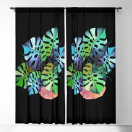 Watercolor Monstera Or One Fine Swiss Cheese Plant Blackout Curtain