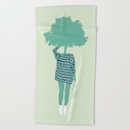 Woman Nature 6 Beach Towel