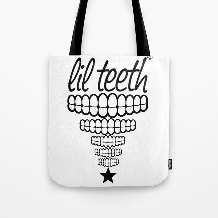 lil teeth baby teeth tote bag by kimberlyduran society6