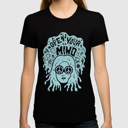 Open Your Mind in Mint T-shirt