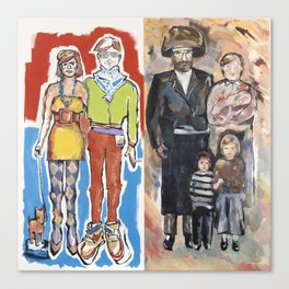 Hipster Couple/Hassidic Family Canvas Print