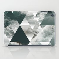 polygon iPad Cases featuring Waves polygon by cat&wolf