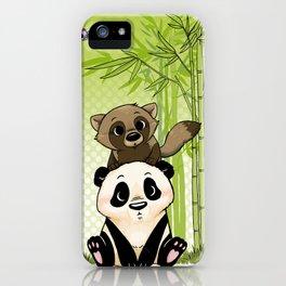 Tanuki et Panda iPhone Case