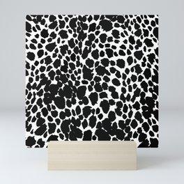 ANIMAL PRINT CHEETAH BLACK AND WHITE#7 2019 Mini Art Print
