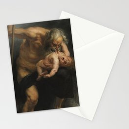 Saturn Devouring His Son - Peter Paul Rubens Stationery Cards