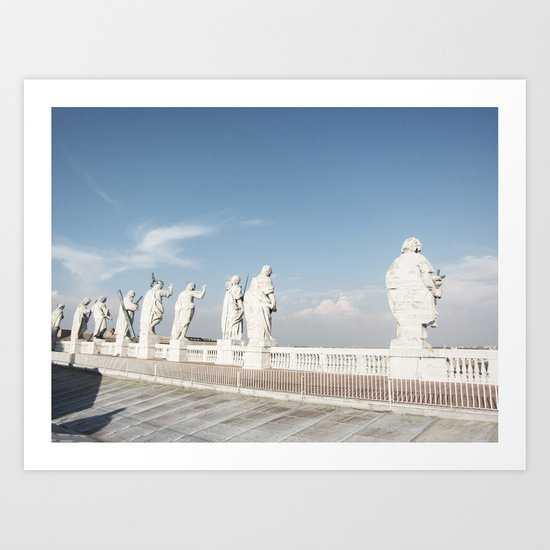 standing there - the cupola of st peter's basilica Art Print