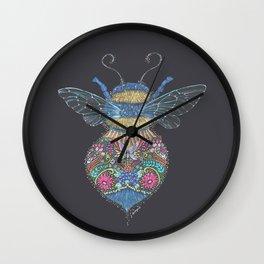 Bee Totem Wall Clock