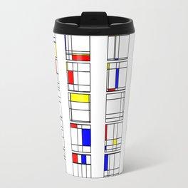 "Math Art Digital Print - ""mondRian"" Travel Mug"