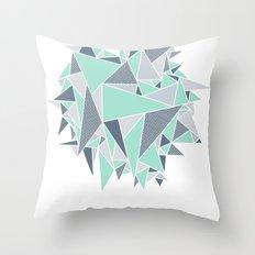 EXPLOSION-TRIANGLE Throw Pillow