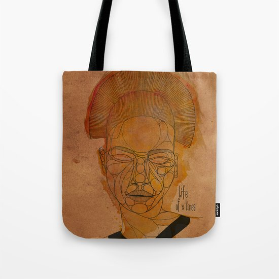 The woman with the black necklace Tote Bag