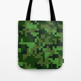 Green Jungle Army Camo pattern Tote Bag