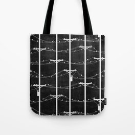 Telephone Poles - NIGHT Tote Bag