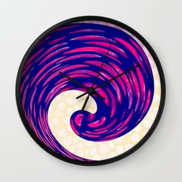 Watching the Waves During Sunset Wall Clock
