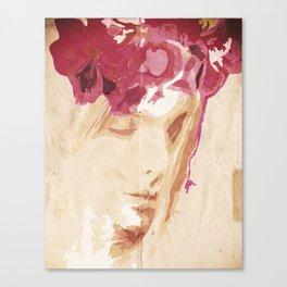 Flower portrait Canvas Print