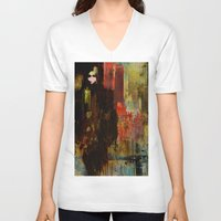 acid V-neck T-shirts featuring Acid rain by Ganech joe