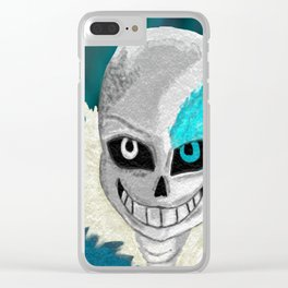 sans Clear iPhone Case