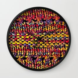 Bright Shawl Wall Clock