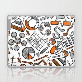 Charts Sketch Seamless Pattern Laptop & iPad Skin