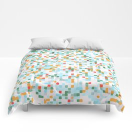 handmade coloured squares Comforters