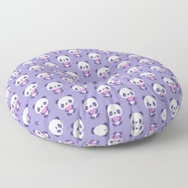Cute purple baby pandas Floor Pillow