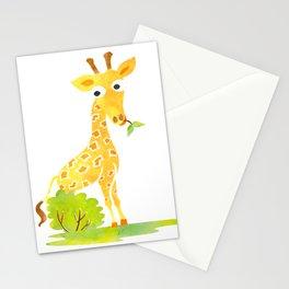 Baby Animal Watercolor Giraffe Adorable Nursery Stationery Cards
