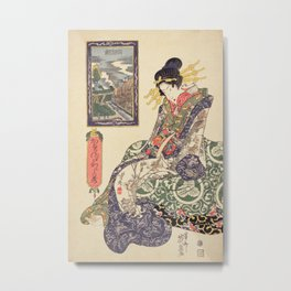 Geisha women Metal Print