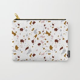 Clay Terrazzo Pattern Carry-All Pouch