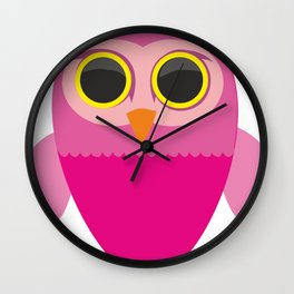 Lovely Cartoon Sowa Wall Clock