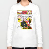 lichtenstein Long Sleeve T-shirts featuring Leeeeee-ROY Lichtenstein!!! by Oubliette