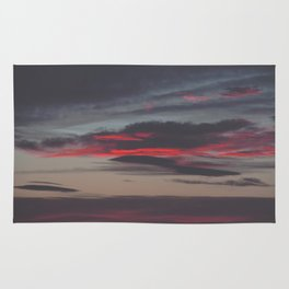 Beautiful image of the sky as night falls Rug
