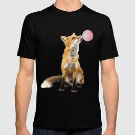 Fox Blowing Bubble Gum - Digital Image T-shirt