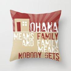 Ohana Means Family - Lilo & Stitch Throw Pillow