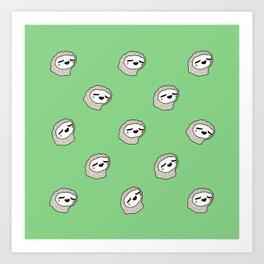 Sloth Party! Art Print