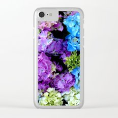 Colorful Flowering Bush Clear iPhone Case
