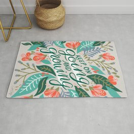 """""""Keep on Going and Growing"""" inspired by Eliza Blank, The Sill Rug"""