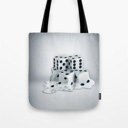 Dice Cubes Melting Tote Bag