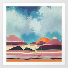 Pink Desert Glow Art Print