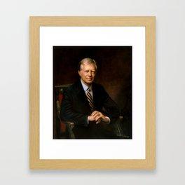 President Jimmy Carter Painting Framed Art Print