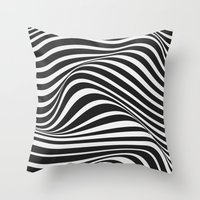 wave Throw Pillows featuring Wave by Tracie Andrews