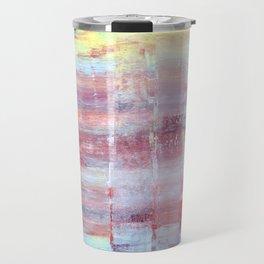 Rainbow Abstract Art Travel Mug