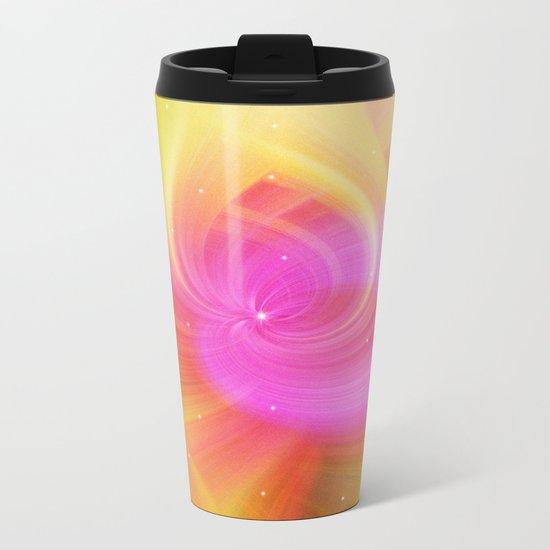 Starry pink abstract Metal Travel Mug