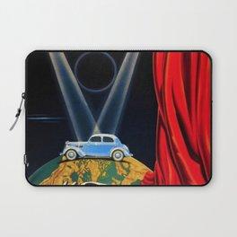 Vintage Automobile Advertising Poster for Matford V8 Une Nouvelle Vedette sur la Scene du Monde Laptop Sleeve