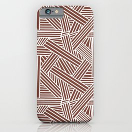 Sketchy Abstract (White & Brown Pattern) iPhone Case
